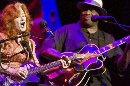 Bonnie Raitt will perform with fellow blues-rock legend Taj Mahal on this summer's BonTaj Roulet Tour.© Scott Newton