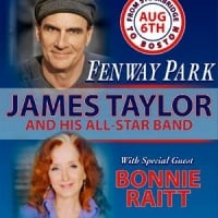 James Taylor to perform at Fenway Park on aug.6 with Bonnie Raitt