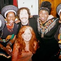 The Mahotella Queens, Dorothy Masuka, Sean Barlow & Bonnie at Let Freedom Sing! - Bottom Line New York - April 29, 2002  © Banning Eyre