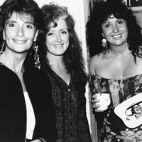 Jeanie Patterson, former owner of the original Sweetwater in Mill Valley, poses for a photo with Mill Valley luminaries Bonnie Raitt and Maria Muldaur. The photo appears in the new book, Legendary Locals of Mill Valley. Reprinted with permission from Legendary Locals of Mill Valley by Joyce Kleiner.