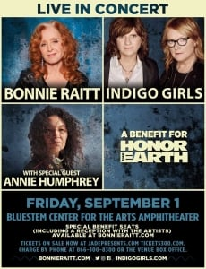 Concert with Indigo Girls to Benefit Honor the Earth