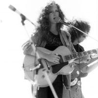 "Bonnie Raitt and Freebo at the Abalone Alliance Concert ""Stop Diablo Canyon"" Camp Edwards San Luis Obispo, CA  6-30-1979  © Tony Hertz"