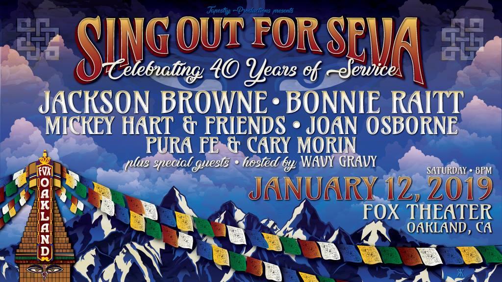 Mickey Hart, Jackson Browne & Bonnie Raitt Aboard For Sing Out For Seva 2019 Benefit